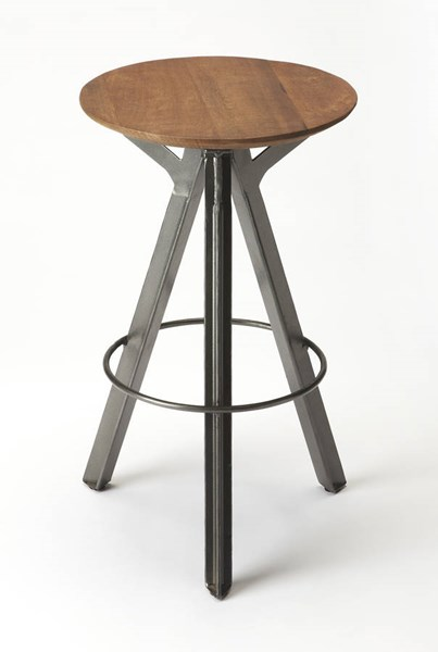Industrial Chic Allegheny Modern Solid Wood Iron Bar Stool BSF-6229330