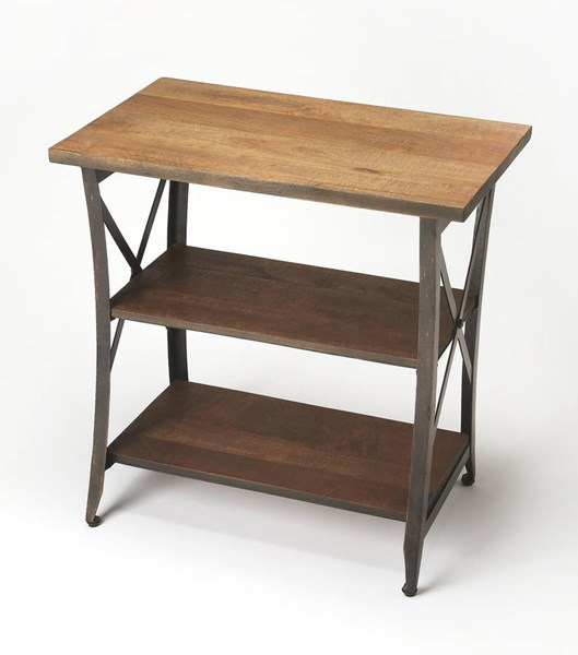 Industrial Chic Overton Modern Solid Wood Iron Side Table BSF-6232330