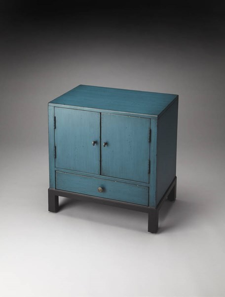 Artists Originals Courtland Distressed Blue Poplar MDF Accent Cabinet bsf-7008331