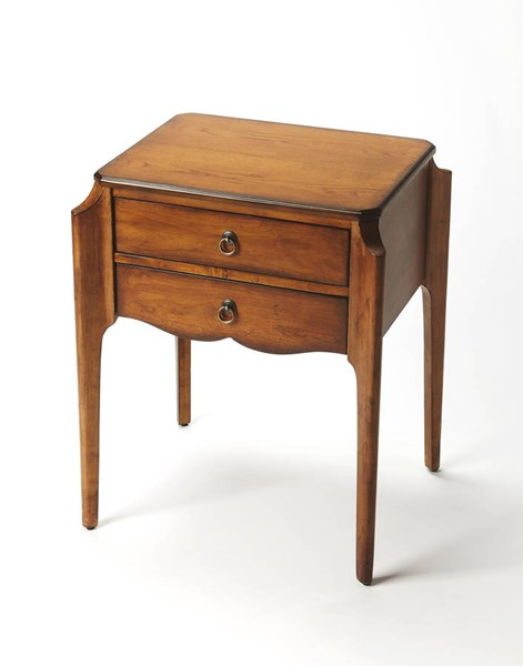 Masterpiece Wilshire Rubberwood MDF Accent Tables BSF-7016-AT-VAR1