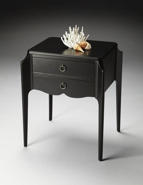 Butler Loft Wilshire Black Licorice Cherry Rubberwood MDF Accent Table BSF-7016111
