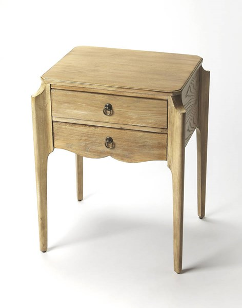 Masterpiece Wilshire Gray Driftwood Solid Wood MDF Accent Table BSF-7016247