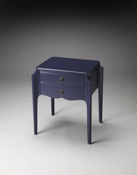 Butler Loft Wilshire Navy Blue Rubberwood MDF Plywood Accent Table BSF-7016291