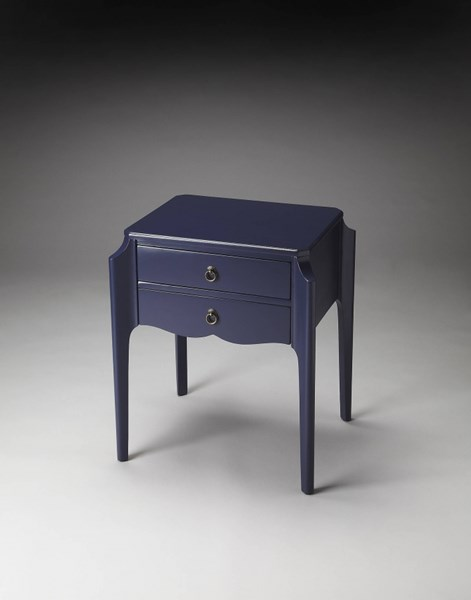 Butler Loft Navy Blue Wedgewood Wood Accent Tables bsf-7016-AT-VAR