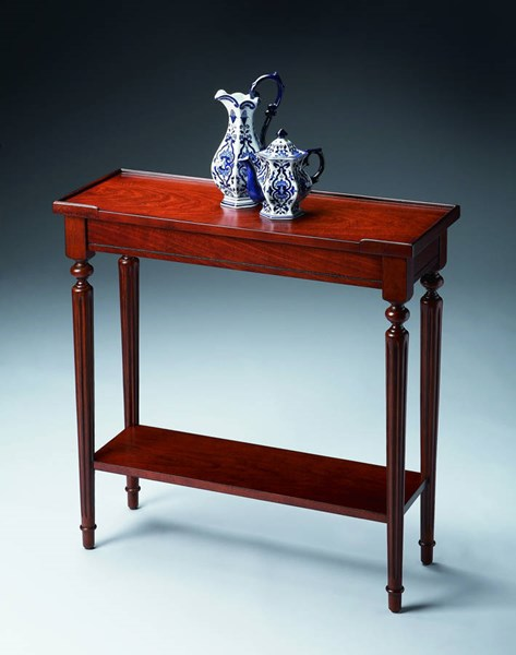 Plantation Cherry Aubrey Traditional Dark Brown Console Table BSF-7036024