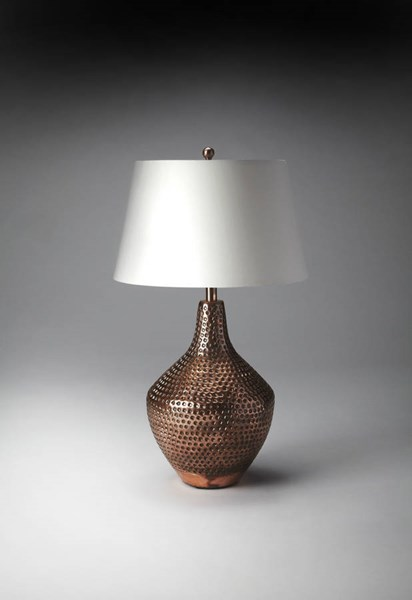 Hors D Oeuvres Antique Copper Aluminum Iron Cotton Shade Table Lamp BSF-7143116