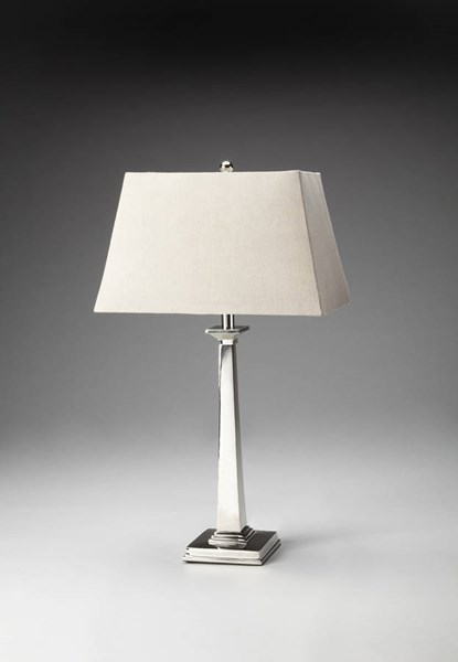 Butler Specialty Hors Doeuvres Silver Square Table Lamp BSF-7146116