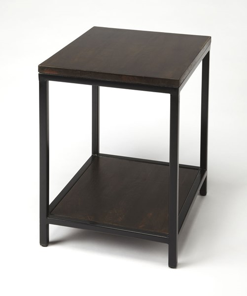 Butler Specialty Industrial Chic Landry Dark Brown End Table BSF-9214330