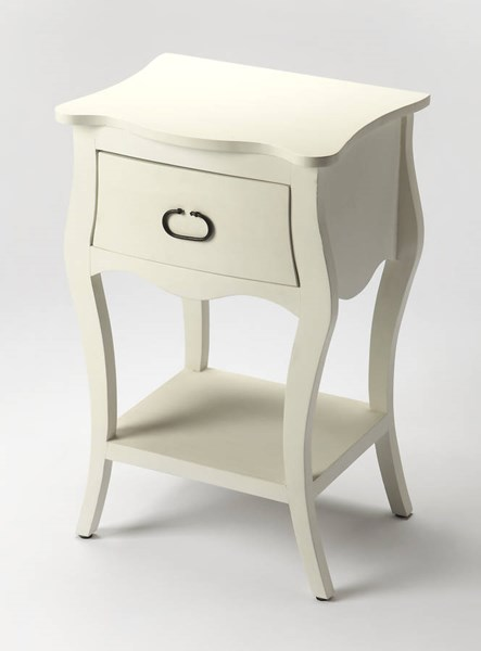 Masterpiece Rochelle Transitional Off White Solid Wood MDF Nightstand BSF-9308288