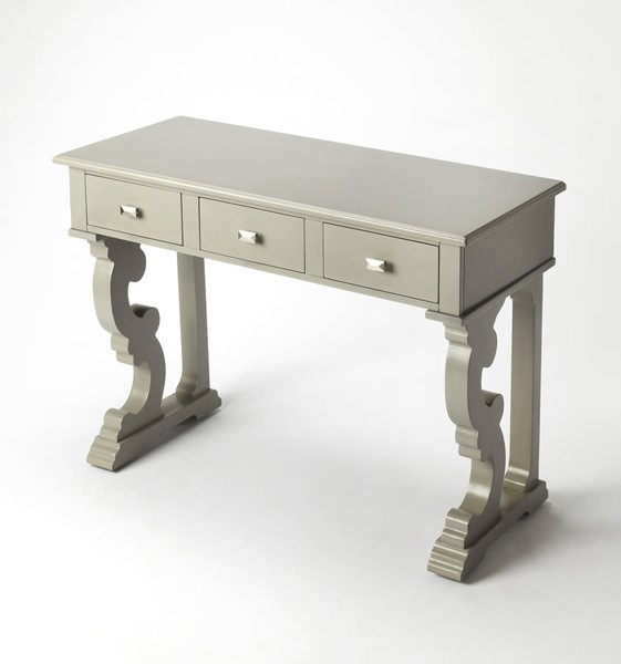 Masterpiece Caravaggio Transitional Gray Hardwood MDF Console Table BSF-9319329