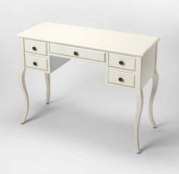 Masterpiece Alicia Traditional Cottage White MDF Writing Desk BSF-9325222