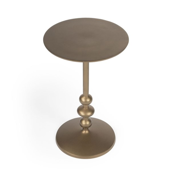 Butler Specialty Zora Bronze Pedestal End Table BSF-9340392