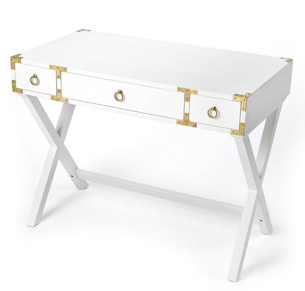 Butler Specialty Loft Forster Glossy White Writing Desk BSF-9341304