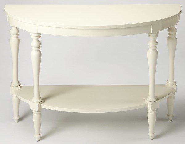 Butler Specialty Masterpiece White Demilune Console Table BSF-9345288
