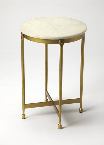 Butler Specialty Loft Brass Top End Table BSF-9351025