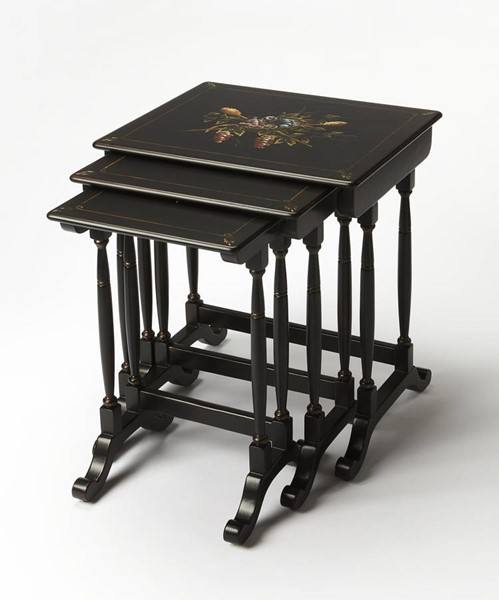 Butler Specialty Smithsonian Black Nesting Tables BSF-9402346