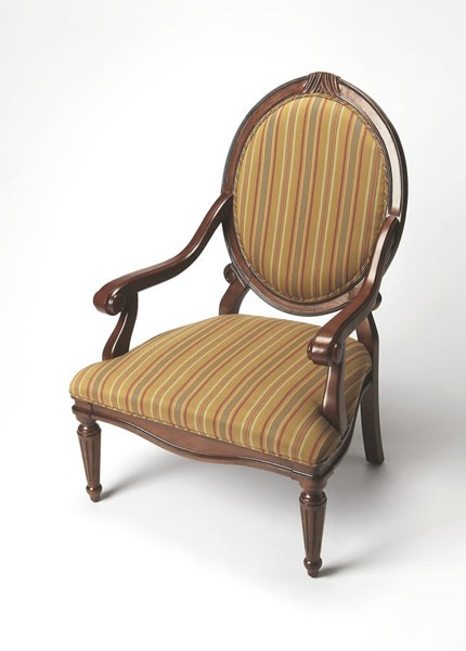 Accent Seating Rookwood Traditional Brown Hardwood Fabric Accent Chair bsf-9505992