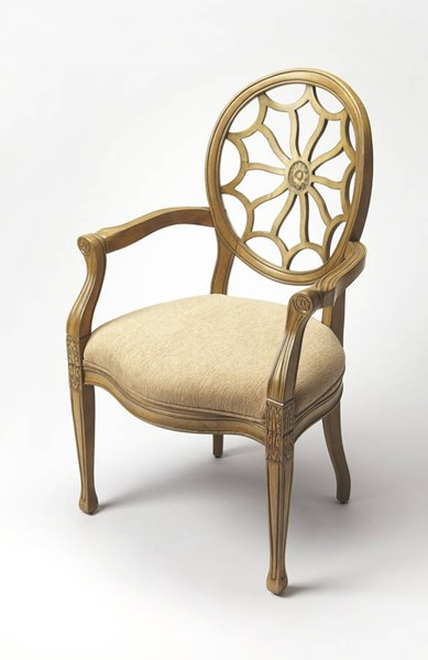 Accent Seating Allison Hardwood Faux Linen Accent Chairs BSF-9508-AC-VAR1