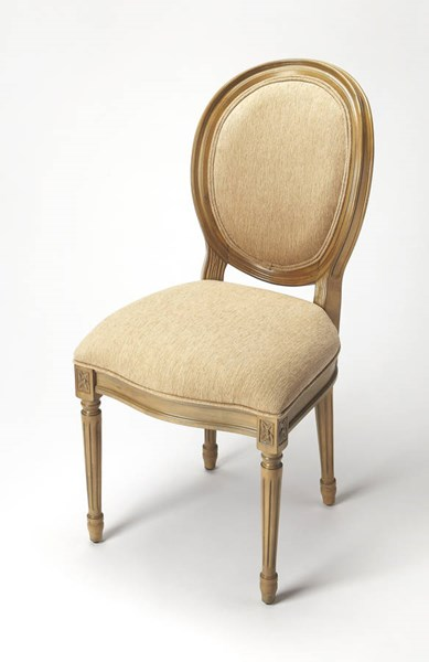 Accent Seating Talbot Beige Hardwood Fabric Side Chair bsf-9512990