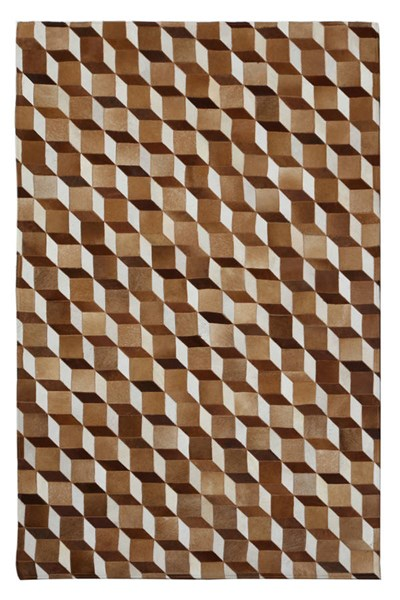 Hair On Hide Guthrie Assorted Leather Wool 120 x 96 Area Rug BSF-9601352