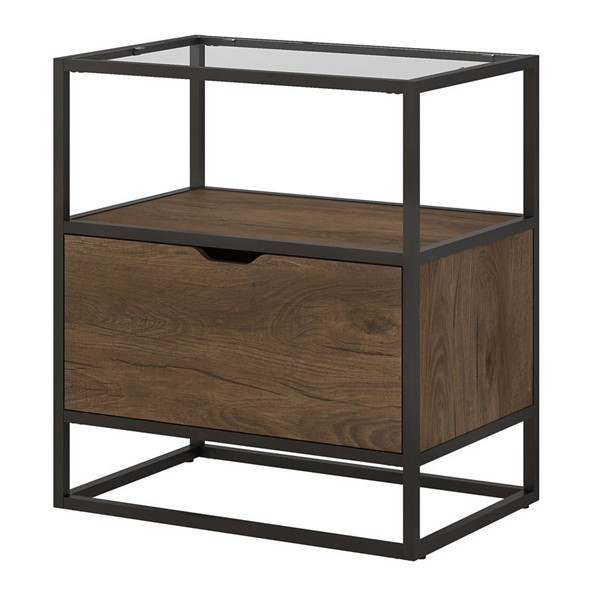 Bush Furniture Anthropology Rustic Brown One Drawer Lateral File BUSH-ATF128RB-03