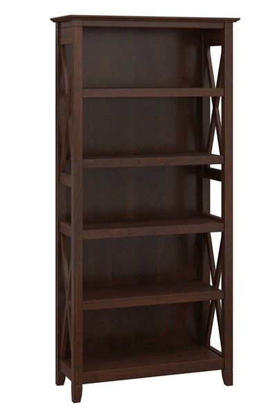 Bush Furniture Key West Bing Cherry 5 Shelf Bookcase BUSH-KWB132BC-03