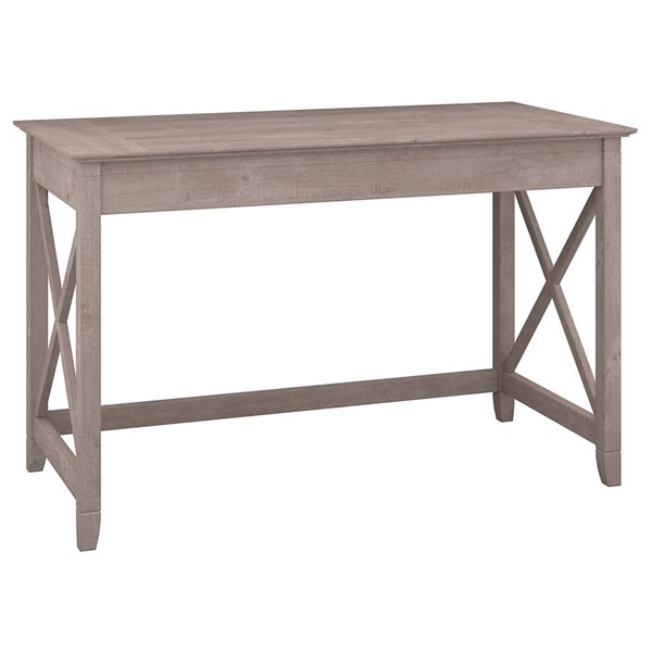Bush Furniture Key West Washed Gray 48W Writing Desk BUSH-KWD148WG-03