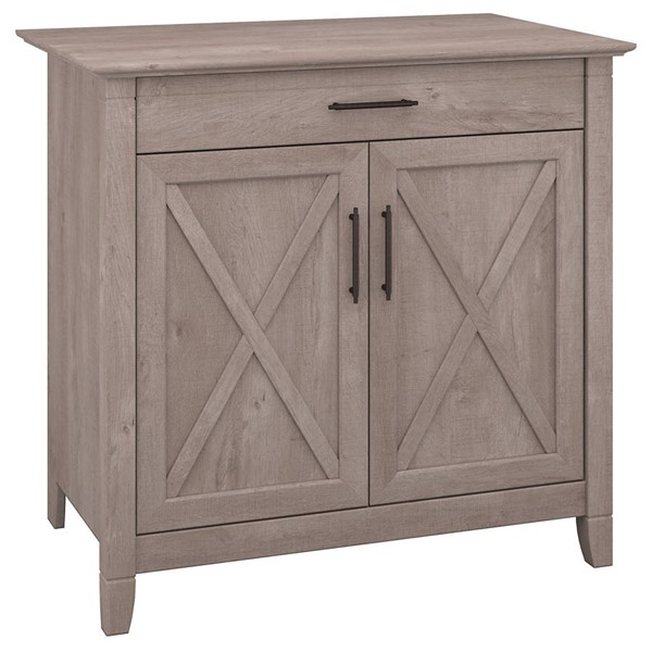 Bush Furniture Key West Washed Gray Secretary Desk BUSH-KWS132WG-03