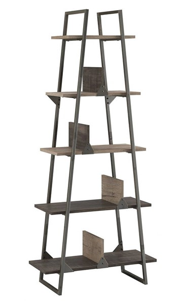 Bush Furniture Refinery Rustic Gray 5 Shelf Bookcase BUSH-RFB132RG-03