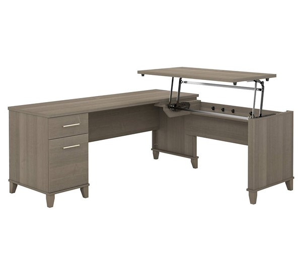 Bush Furniture Somerset Ash Gray 72W L Shaped Desk BUSH-SET014AG