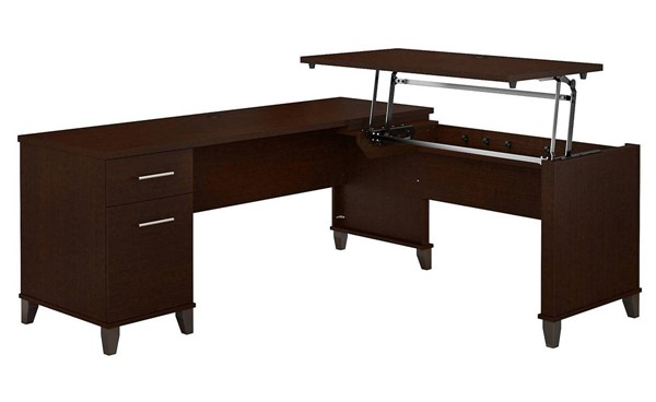 Bush Furniture Somerset Mocha Cherry 72W L Shaped Desk BUSH-SET014MR