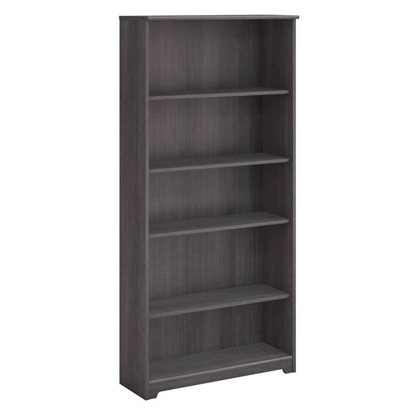 Bush Furniture Cabot Heather Gray 5 Shelf Bookcase BUSH-WC31766