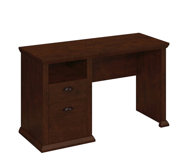 Bush Furniture Yorktown Antique Cherry Single Pedestal Desk BUSH-WC40323-03