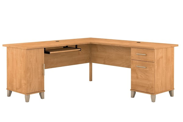 Bush Furniture Somerset Maple Cross 72W L Desks BUSH-WC81-10K-L-DESK-VAR