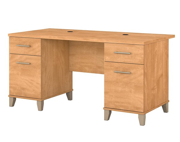 Bush Furniture Somerset Maple Cross 60W Desks BUSH-WC81-28K-DESK-VAR