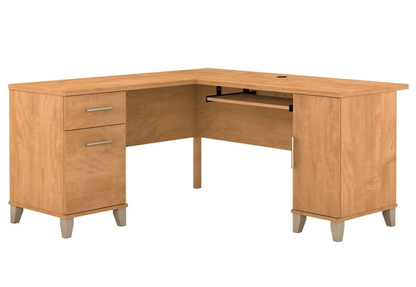 Bush Furniture Somerset Maple Cross 60W L-Desks BUSH-WC81-30K-L-DESK-VAR