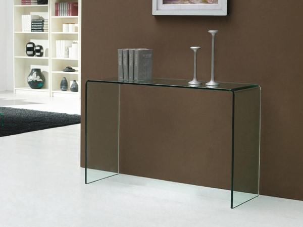 Casabianca Casetta Clear Glass Rectangle Console Table CASA-CB-0311-C