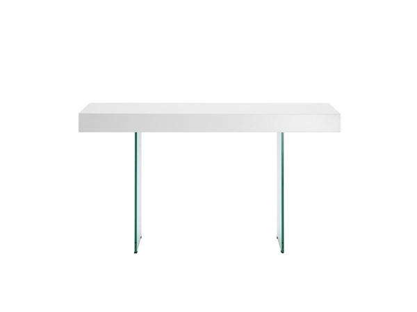 Casabianca Il Vetro Modern White Rectangle Console Table CASA-CB-111-W-CONSOLE