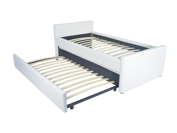 Casabianca Duette Modern White MDF Twin Bed with Twin Trundle CASA-CB-14BD-XLTwin