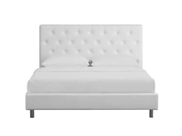 Casabianca Miles Ii White Fabric Upholstered Headboard Queen Bed CASA-CB-233-Q-W