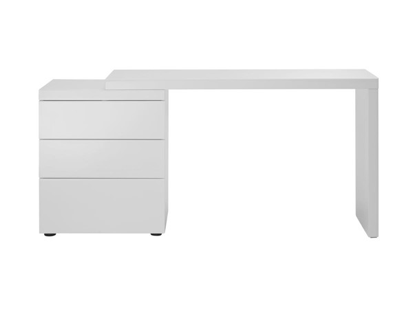 Casabianca Nest Modern White MDF Extendable Office Desk CASA-CB-4723-WHDESK