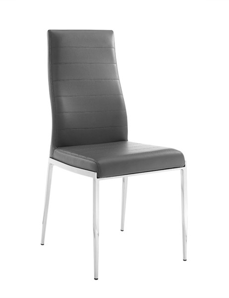 Casabianca Home Firenze PU Leather and Stainless Steel Base Dining Chairs CASA-CB-511-DCH-VAR