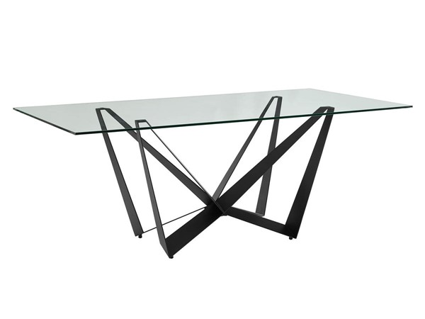 Casabianca Home Fly Clear Black Dining Table CASA-CB-6550REC