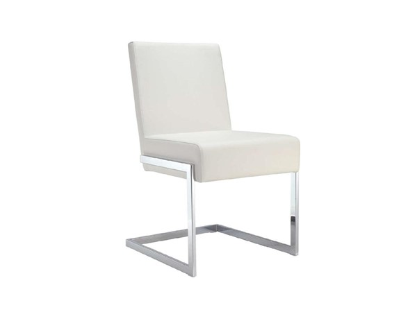2 Casabianca Fontana Modern White Eco Leather Dining Chairs CASA-CB-F3131-W