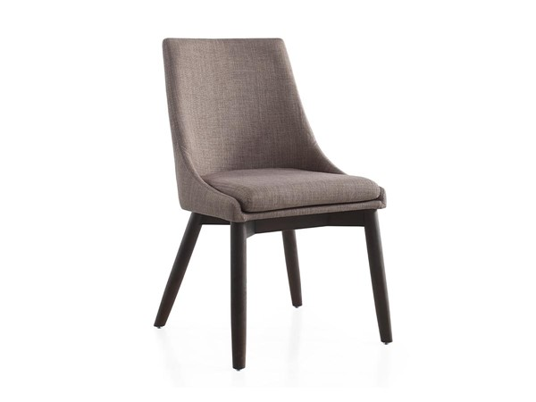 Casabianca Home Creek Gray Linen and Wenge Base Dining Chair CASA-CB-F3185-GWEN