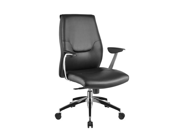 Casabianca Arena Modern Black Eco Leather Arm Office Chair CASA-CB-O110-BL