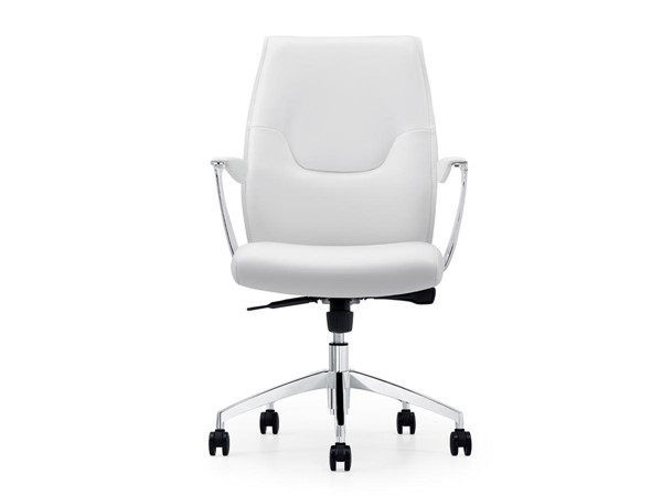 Casabianca Arena Modern White Eco Leather Arm Office Chair CASA-CB-O110-WH