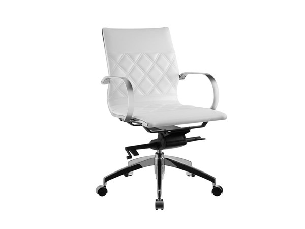 Casabianca Lider Modern White Eco Leather Arm Office Chair CASA-CB-O113-WH