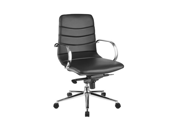 Casabianca Horizon Modern Black Eco Leather Arm Office Chair CASA-CB-O115-BL