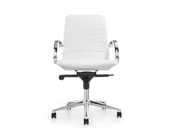 Casabianca Horizon Modern White Eco Leather Arm Office Chair CASA-CB-O115-WH